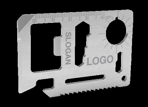 Kit - Outil multi-fonction carte de crédit avec marquage