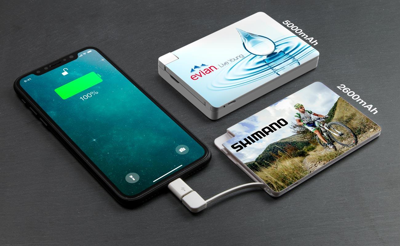 Card - Batterie Externe Personnalisable